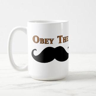 Obey The Mustache Basic White Mug