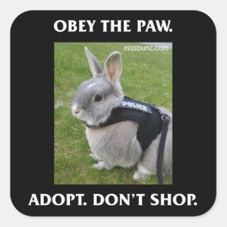 Obey the Paw Sticker