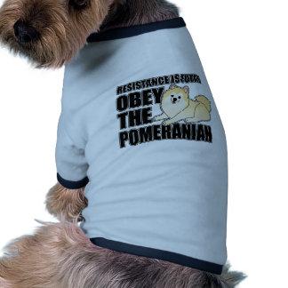 Obey The Pomeranian Pet Tee Shirt