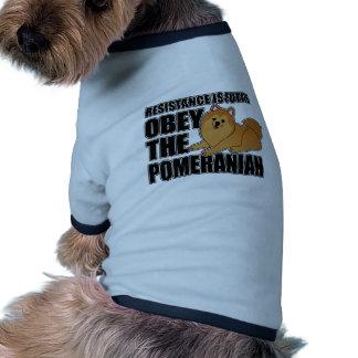 Obey The Pomeranian Doggie T Shirt