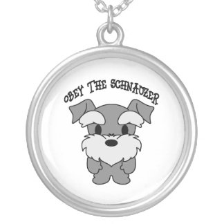 Obey The Schnauzer Necklace