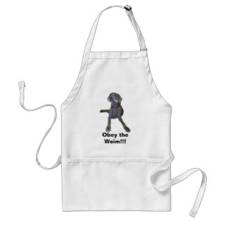 Obey the Weim!!! Standard Apron