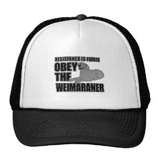 Obey The Weimaraner Trucker Hat