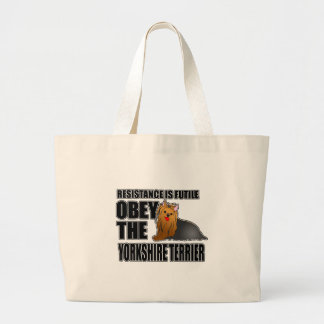 Obey The Yorkshire Terrier Large Tote Bag