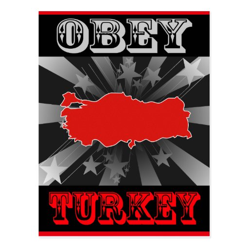 Obey Turkey Postcard