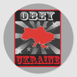 Obey Ukraine Classic Round Sticker