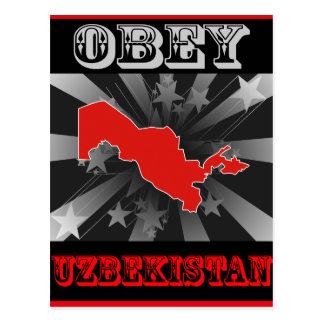 Obey Uzbekistan Postcard