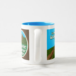 OBFG Logo Two-Tone Mug: Blue Two-Tone Mug