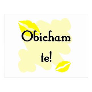 Obicham te! - Bulgarian - I Love You Postcard