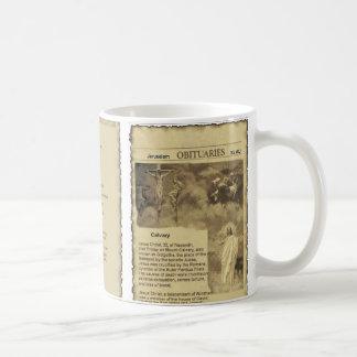 Obituary of Jesus Christ The Good Shepherd Basic White Mug