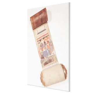 Obituary scroll, 1406 canvas print
