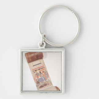 Obituary scroll, 1406 key ring