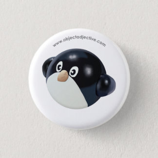 Object Adjective Penguin 3 Cm Round Badge