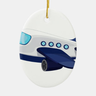 Object illustration Double-Sided oval ceramic christmas ornament