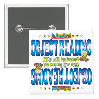 Object Reading Dr. B Head 15 Cm Square Badge