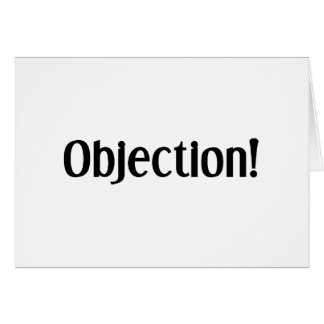 Objection Card