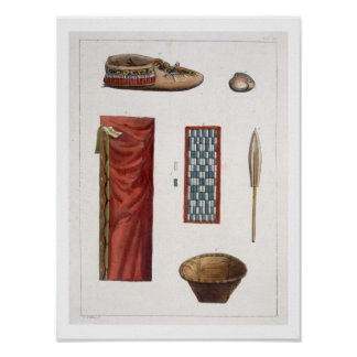 Objects belonging to Canadian Indians (colour engr Poster