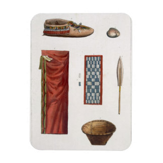 Objects belonging to Canadian Indians (colour engr Rectangular Photo Magnet