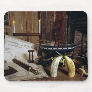 Objects from a Nineteenth Century Captain's Desk Mouse Pad