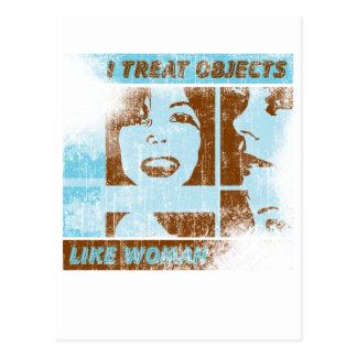 Objects Like Woman Postcard