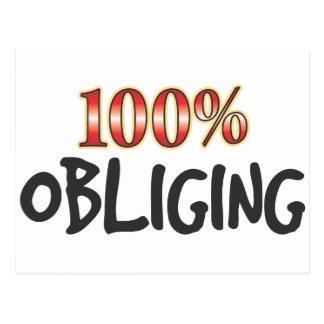 Obliging 100 Percent Postcard