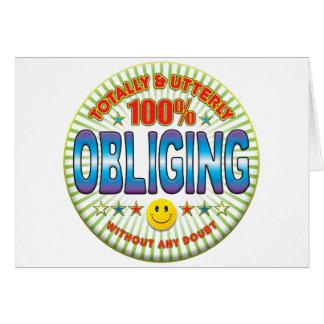 Obliging Totally Card