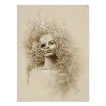 Oblivion Macabre Fantasy Art Photo Print