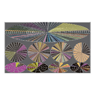 Oblong and circle, Wheels Poster