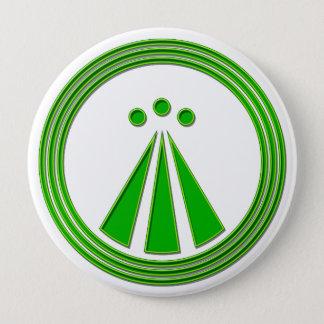 OBOD Symbol Neon Green 10 Cm Round Badge