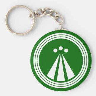 OBOD Symbol on Blk Basic Round Button Key Ring