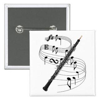 Oboe 15 Cm Square Badge