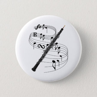 Oboe 6 Cm Round Badge