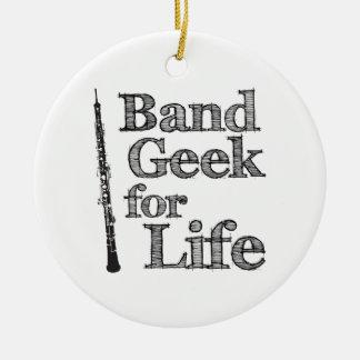 Oboe Band Geek Round Ceramic Decoration