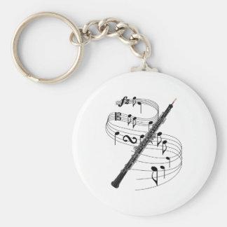 Oboe Basic Round Button Key Ring