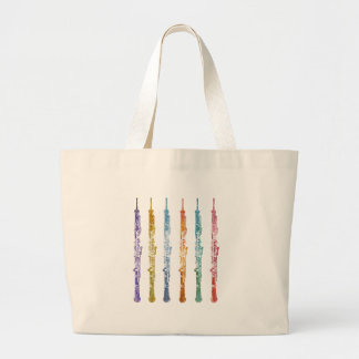 Oboe Crayons Large Tote Bag