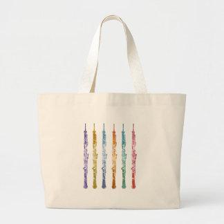 Oboe Crayons Large Tote Bag