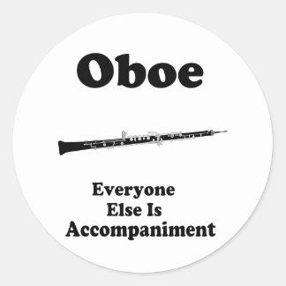 Oboe Gift Round Sticker