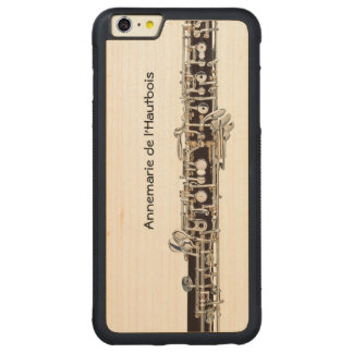 Oboe Keys, Customizable Name Carved® Maple iPhone 6 Plus Bumper Case