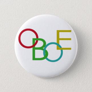 OBOE Letters 6 Cm Round Badge