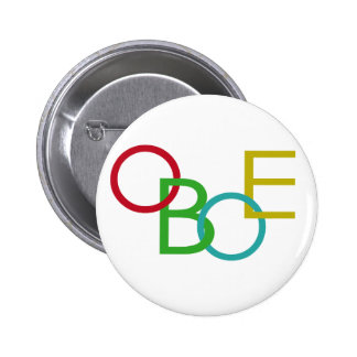 OBOE Letters 6 Cm Round Badge