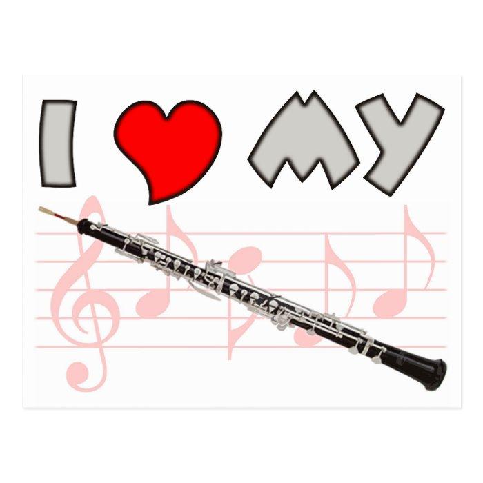 Oboe Love Postcard