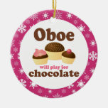 Oboe Music Cupcakes Christmas Ornament