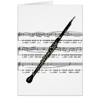 Oboe musical 01 B Greeting Card