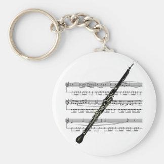 Oboe musical 01 B Key Ring