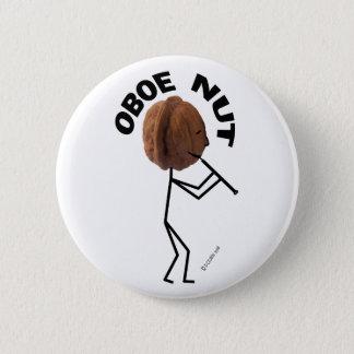 Oboe Nut 6 Cm Round Badge