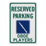 Oboe Players Parking Poster