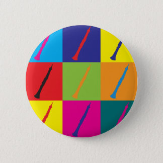Oboe Pop Art 6 Cm Round Badge