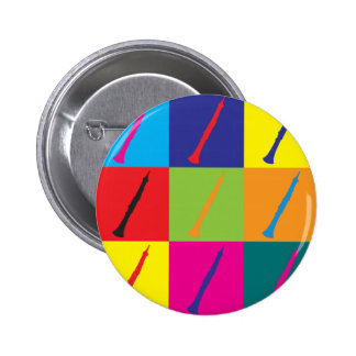 Oboe Pop Art 6 Cm Round Badge