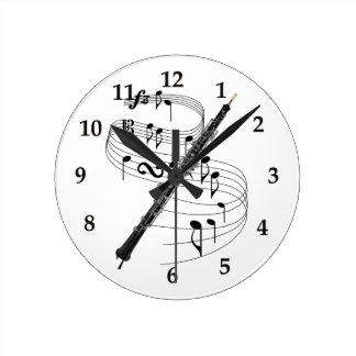 Oboe Round Clock
