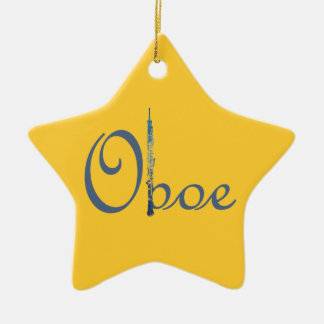 Oboe Script Christmas Ornament